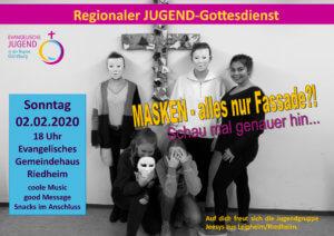 Regionaler Jugendgottesdienst Region Günzburg @ Evangelisches Gemeindehaus Riedheim